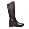 "SoleMani Women's Naz X-Slim 12""-13"" Calf Black Leather Boot"