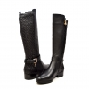 "SoleMani Women's Naz X-Slim 13"" Calf Black Leather Boot"