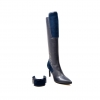 "SoleMani Women's ""Lucky"" Navy Leather Narrow calf"