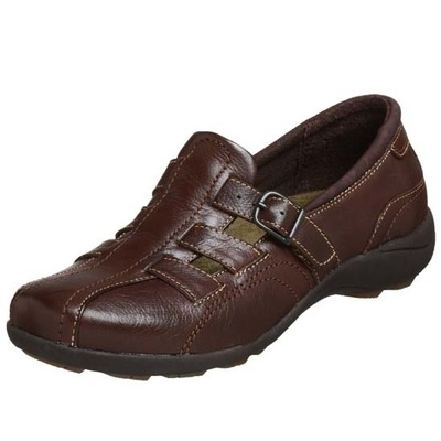 Hush Puppies Ionic Coffee Bean Leather Women's Slip On