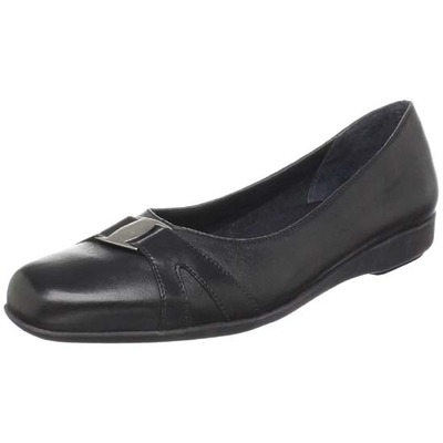 Walking Cradles Tiffany Black Leather Women's Flat Shoes
