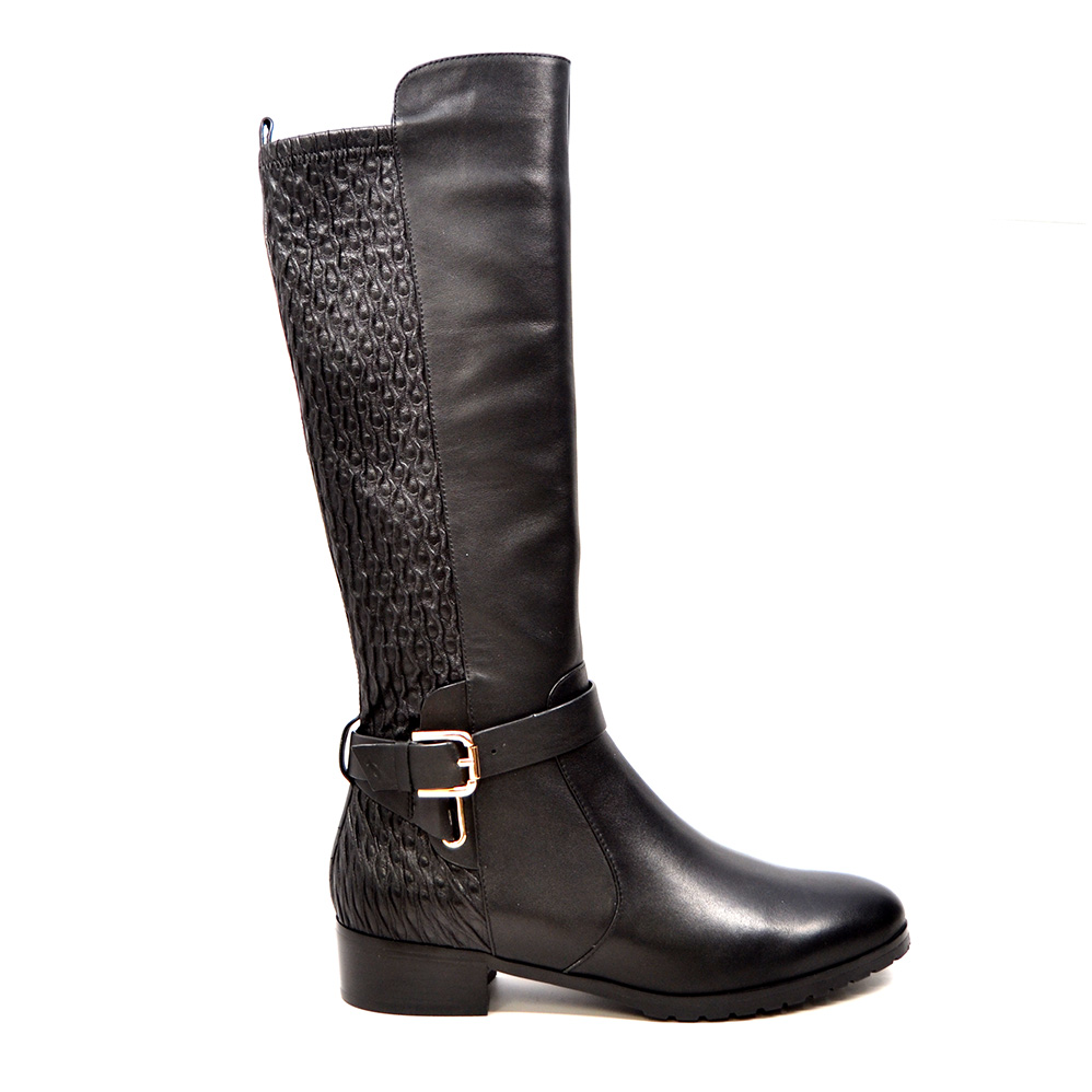 Solemani Women S Naz X Slim 12 13 Calf Black Leather Boot