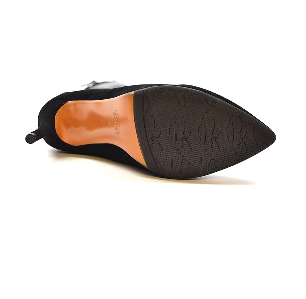 460fb5622b4 SoleMani Women's Aviva X-Slim 12-13 Calf Black Leather Boot ...