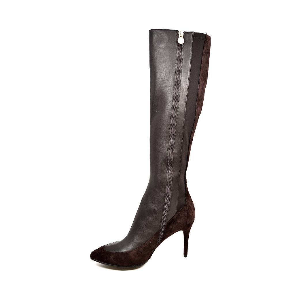 5436d58b0fc SoleMani Women's Aviva X-Slim 12-13 Calf Brown Leather Boot ...