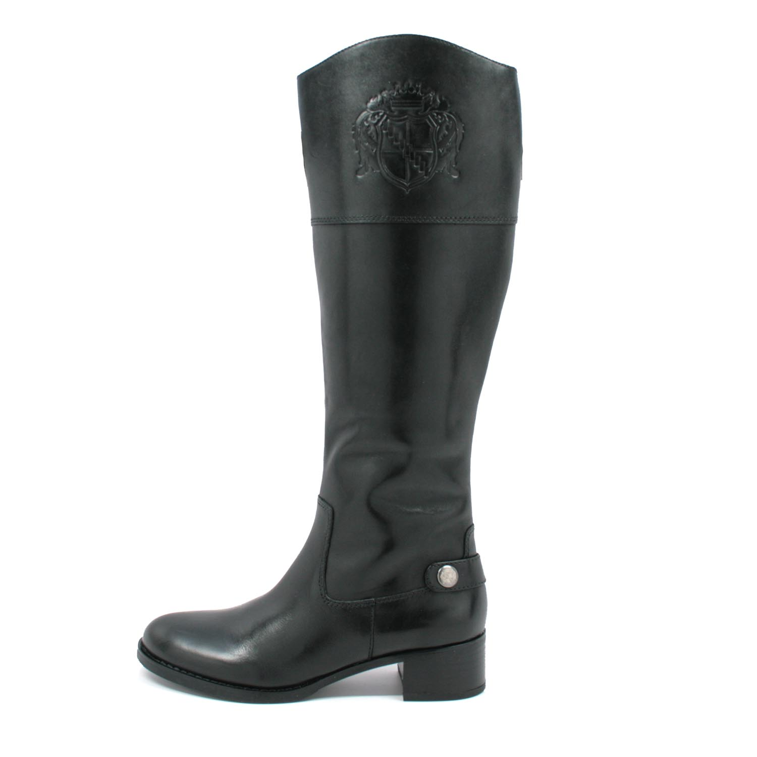 Franco Sarto Women S Chip Riding Boots Black Leather