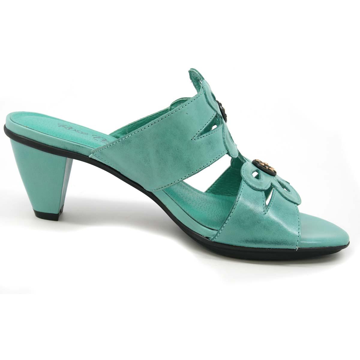 Rose Petals Suri Turquoise Leather Sandals 79 99 Slim