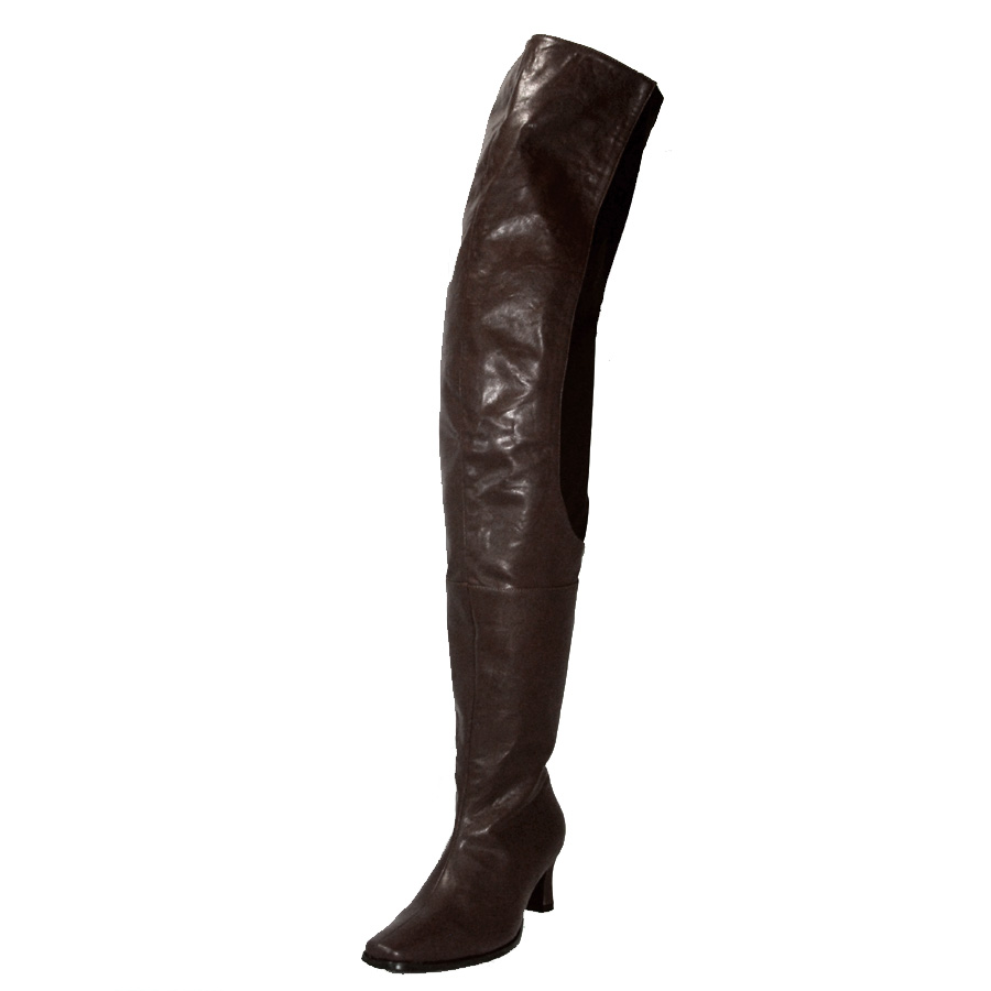 2cd545c0622 Peearge LB7060 Ladies Thigh High Boots Brown Leather [Peerage-lb7060 ...