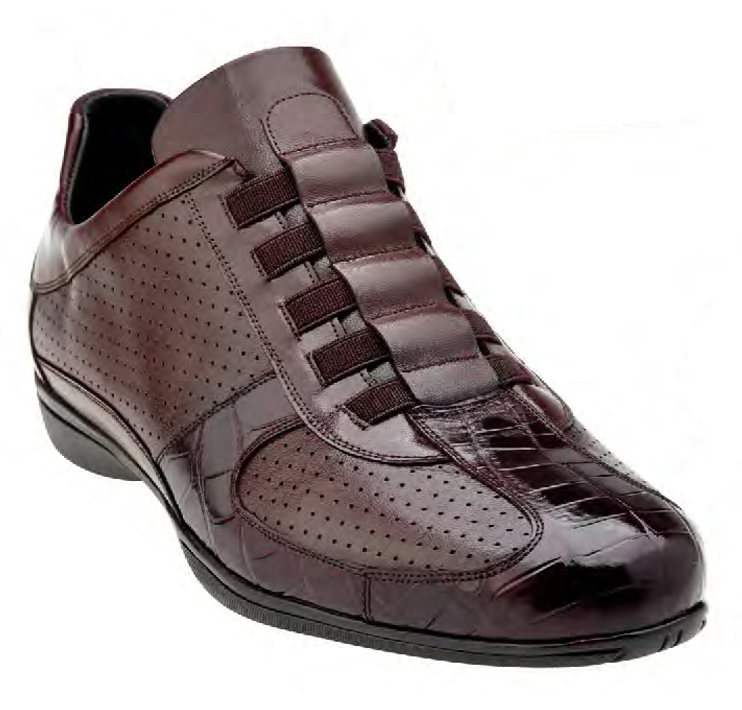 BELVEDERE CASTO Brown GENUINE CROCODILE & SOFT CALF