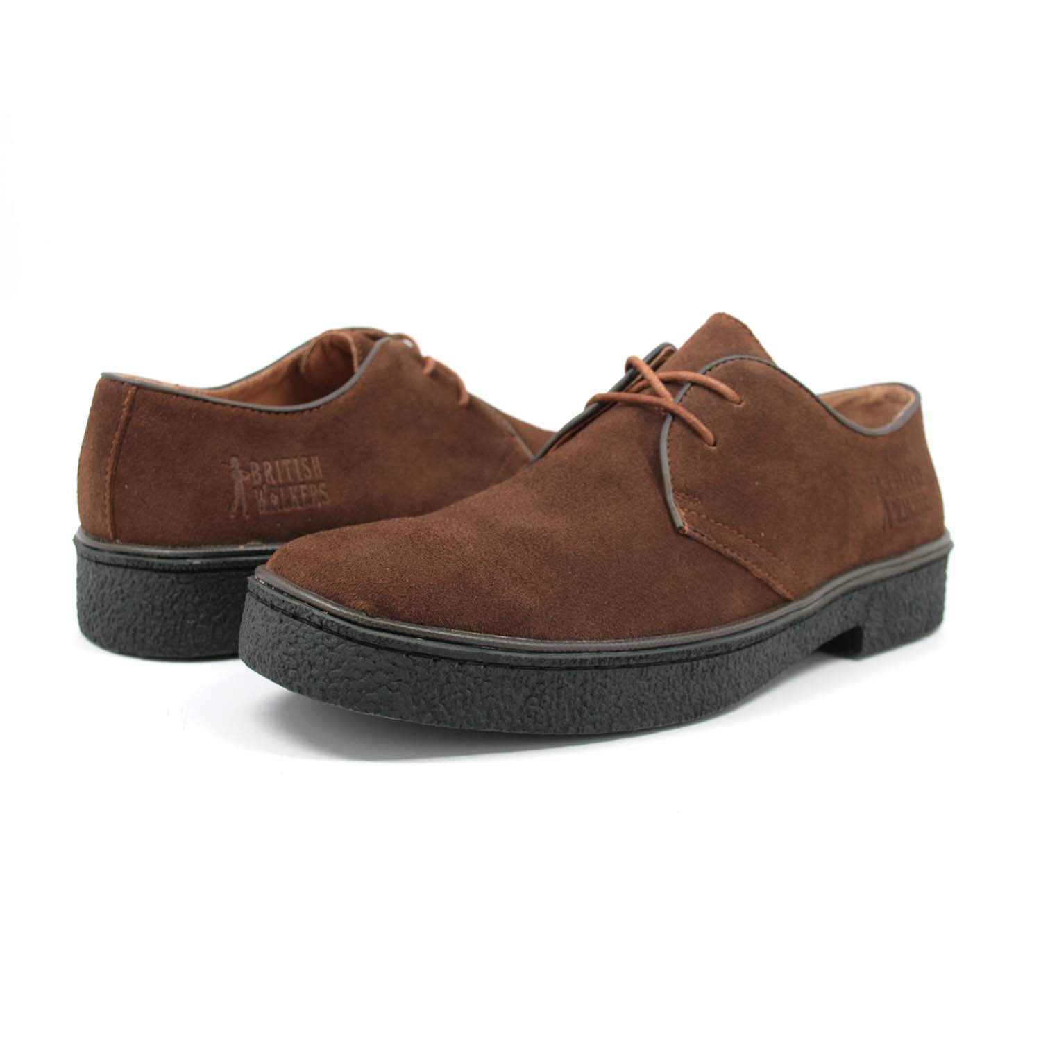 British Walkers Men's Playboy Low Cut Brown Suede
