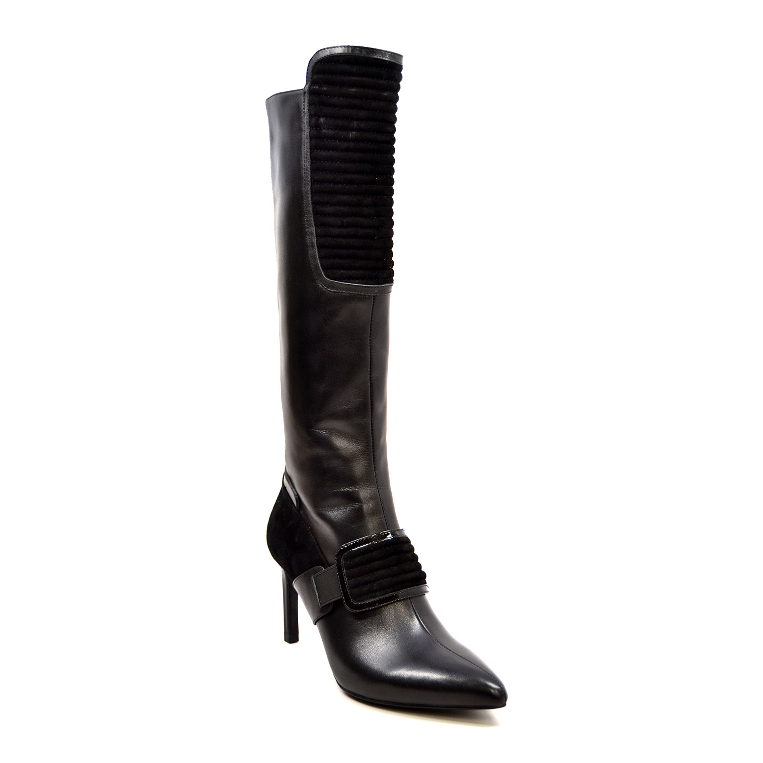 2656523405 SoleMani Women's Lucky Black Leather Narrow calf [luckyblack ...