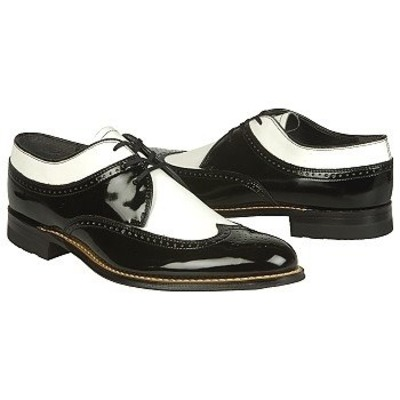 Stacy Adams Dayton Black Patent/White leather