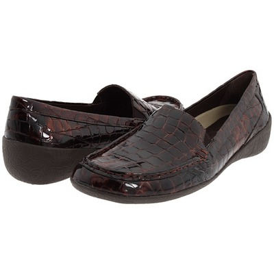 Elites Regan Brown Leather Croco Women's