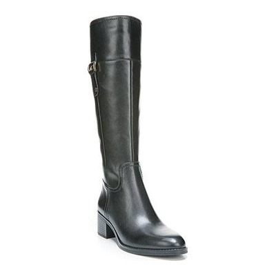 Franco Sarto Lizbeth Boot Black Leather (WIDE CALF)
