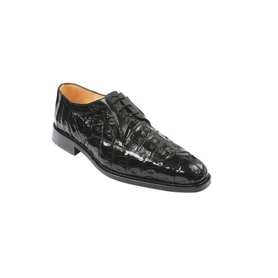 Belvedere Men's Susa Genuine Crocodile Oxford-Black