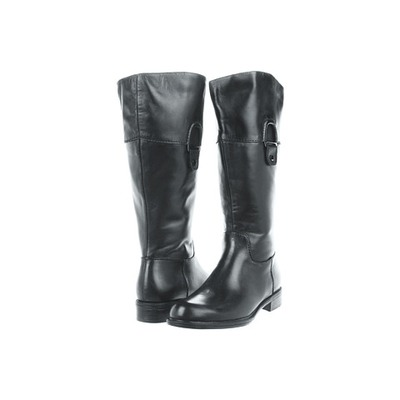 David Tate Eileen Black Leather Wide Wide calf