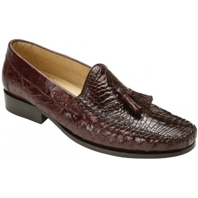 "Belvedere ""Bari"" Brown Genuine Alligator and Ostrich Skin"