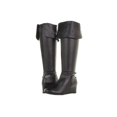 Ros Hommerson Tami Wide calf Black Leather over the knee