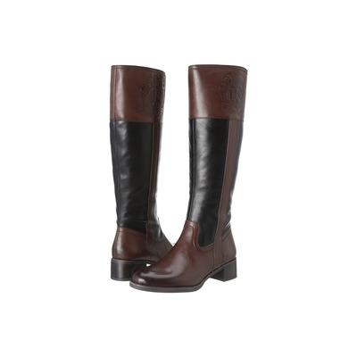 Franco Sarto Women's Christie Riding Boot Brown/Black Leather