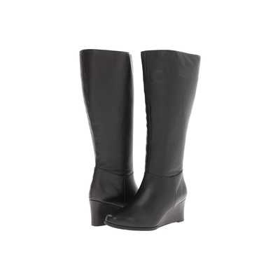 Ros Hommerson Tess Regular Calf BlackLeather Wedge boot