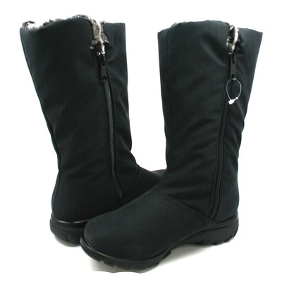 Toe Warmers Women's Janet Faux-Fur Boots Black