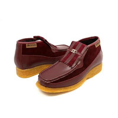 British Collection Apollo-Burgundy Leather/Suede Slip-on