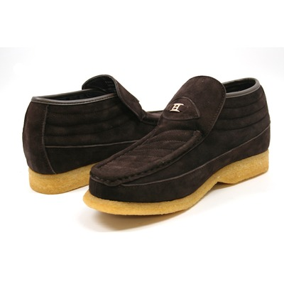 British Collection-Liberty Brown Suede High Slip-on