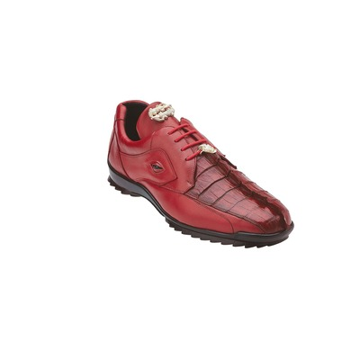"Belvedere ""Vasco"" Red Genuine Hornback Crocodile /"
