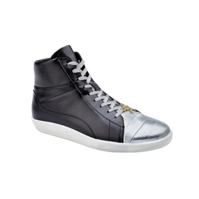 "BELVEDERE ""Vitale""  Silver/Grey Eel skin and calf leather."