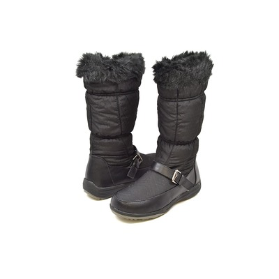 "Wanderlust ""Tiana"" Black Water Proof Fur Boot"