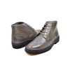 British Collection Gray Ostrich and Wingtip Leather