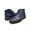 British Collection Navy Ostrich and Wingtip Leather