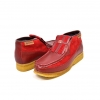 British Collection Apollo-Red Leather and Suede Slip-on