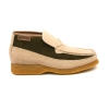British Collection Checkers-Beige and Olive Suede Slip-ons