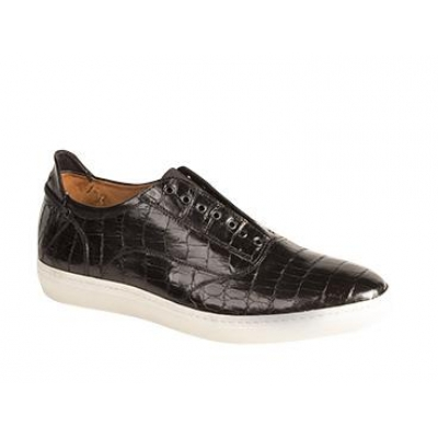 Mezlan Emmanuel Genuine Crocodile Black Shoes