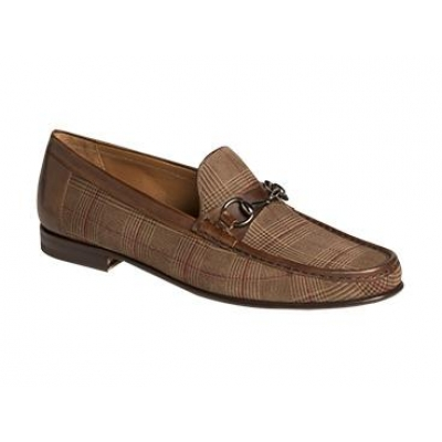 Mezlan Salinas Suede Fashion Horsebit Loafer Brown Shoes