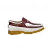 "British Collection ""Harlem""  Burgundy/White Ostrich Leather"