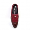 "British Collection ""Shiraz"" Burgundy Suede and Croc Combo"