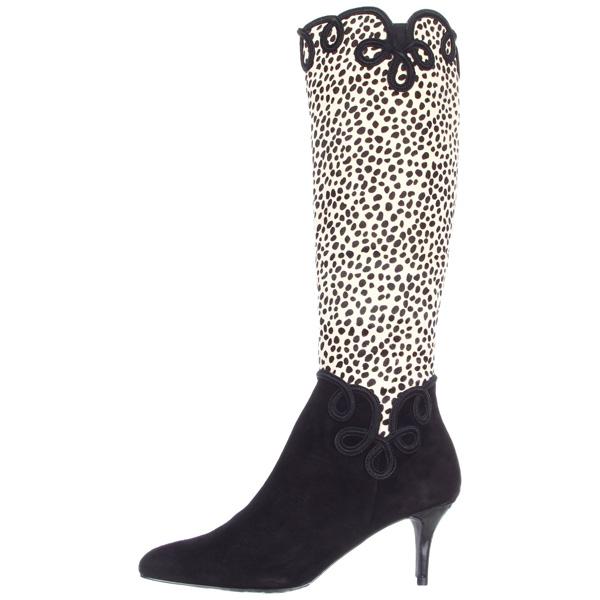 J Renee Women S Paulina Knee High Boot Black White 169